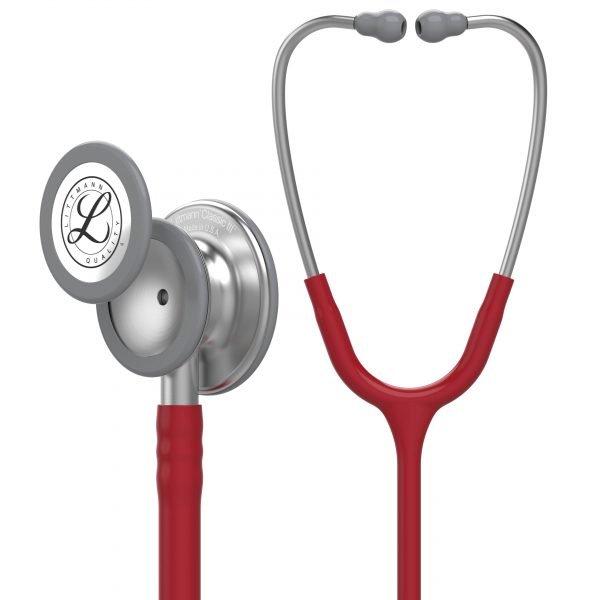 3M Littmann Classic III Stethoscope, Burgundy Tube, 27 inch, 5627