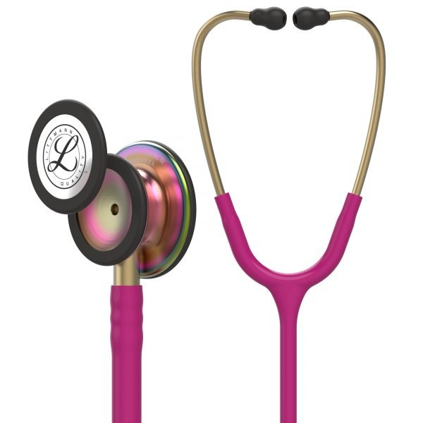 3M Littmann Classic III Stethoscope Raspberry with Rainbow Chestpiece 5806