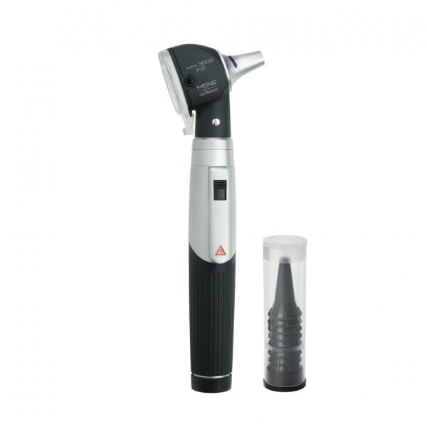 Heine mini 3000 Fiber Optic (F.O) Otoscope with Handle and 10 Free Disposable Tips