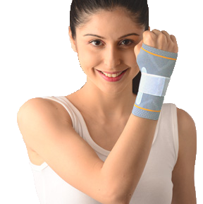Wrist splint binder with sillcone pressure pad