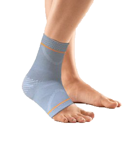 Ankle support with sillcone pressure pad