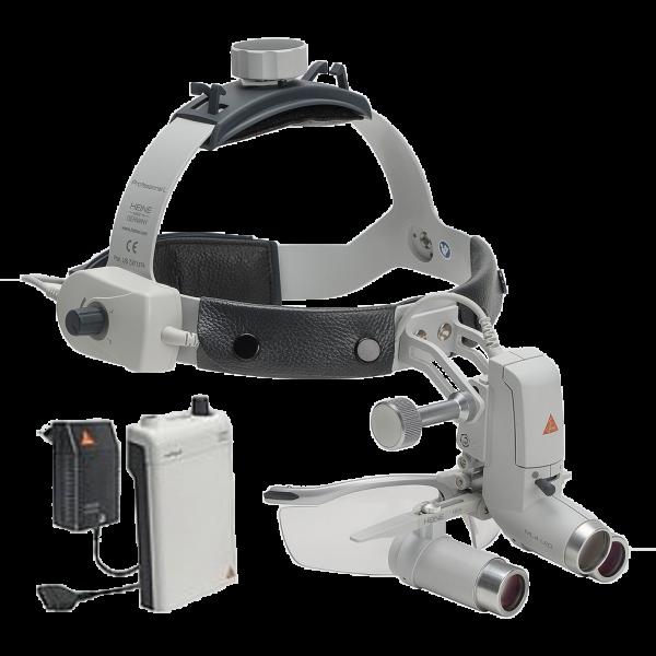 Heine ML4 LED HeadLight Kits with Binocular Loupe 4x/340mm S-GUARD and Power Source