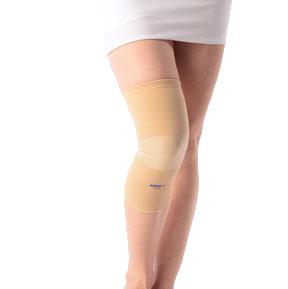 Patella ribbed elasticated knee cap