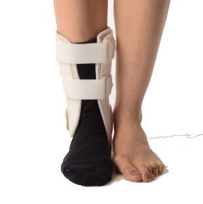Ankle stirrup brace-padded