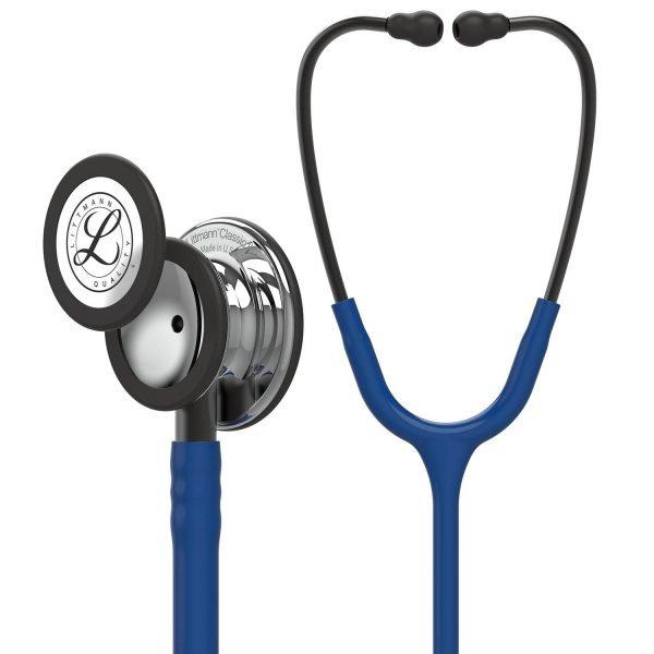 3M Littmann Classic III Stethoscope Navy Blue with Mirror Finish 5863