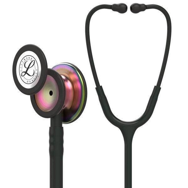 3M Littmann Classic III stethoscope Black with Rainbow Finish Chestpiece 5870