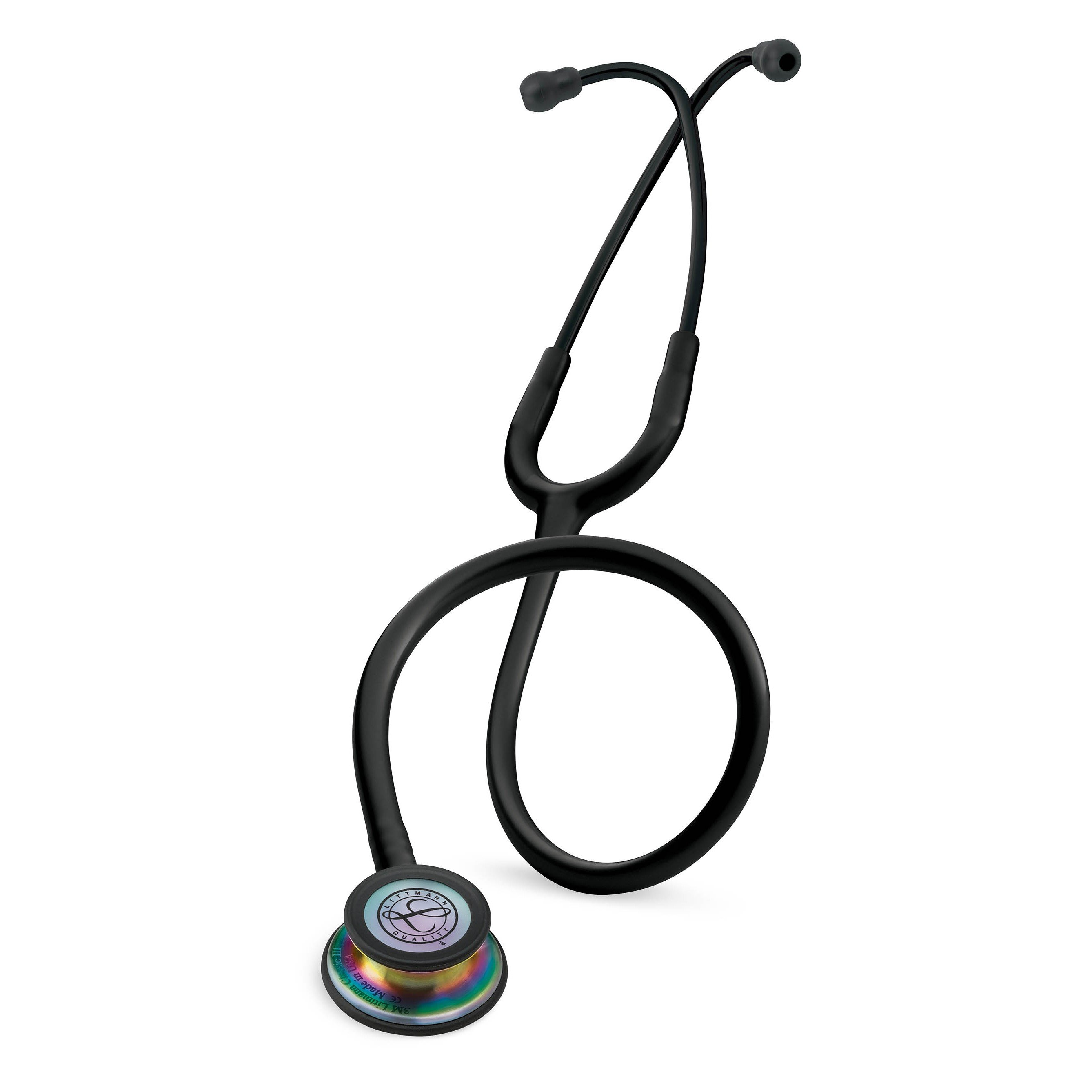 Littmann Classic III stethoscope Black with Rainbow finish Chestpiece 5870