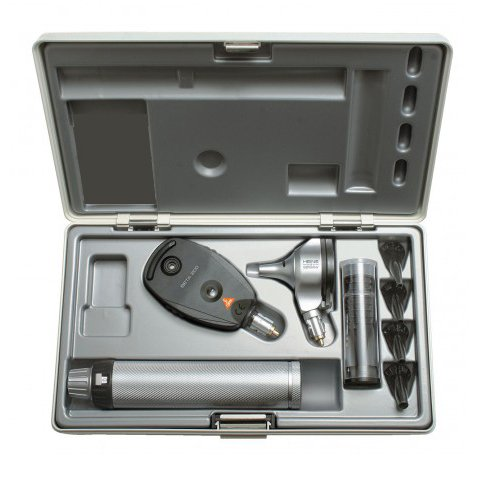 HEINE BETA®200 Ophthalmoscope BETA 200 F.O Oto,scope both with XHL 2.5V one set usable tips Dignostic set