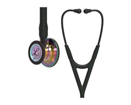 3m Littmann Cardiology Iv Stethoscope Black Rainbow Finish Smoke Stem 6240