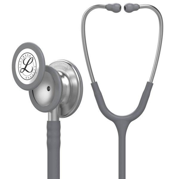 3M Littmann Classic III Stethoscope, Gray Tube, 27 inch, 5621